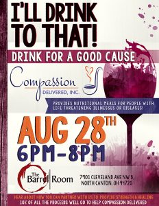 Drink For A Good Cause Flyer Aug 28th