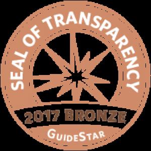 GuideStar - Seal of Transparency 2017 Bronze